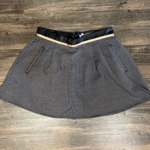 BCBGeneration Skater Skirt with Leather Waist